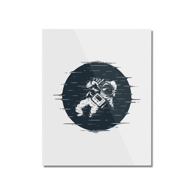 Glitch Space Home Mounted Acrylic Print by Steven Toang