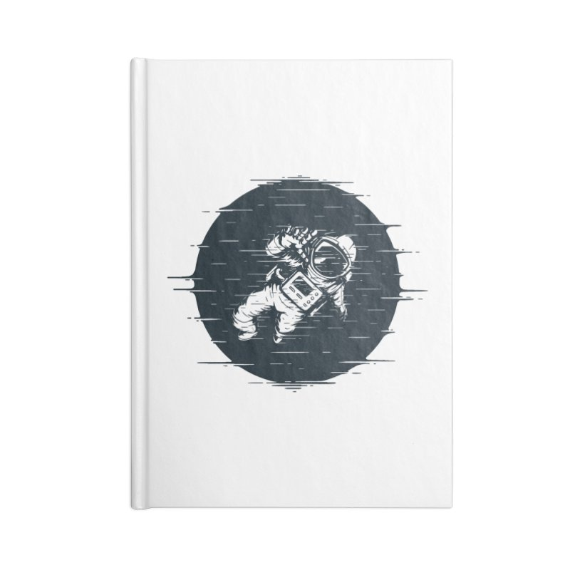 Glitch Space Accessories Blank Journal Notebook by Steven Toang