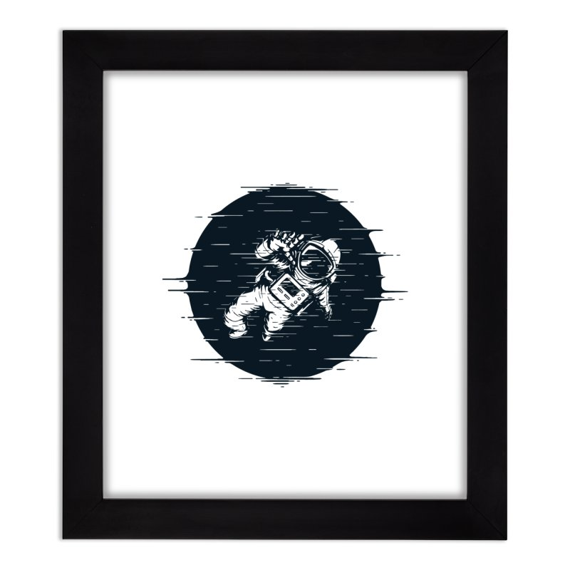 Glitch Space Home Framed Fine Art Print by Steven Toang