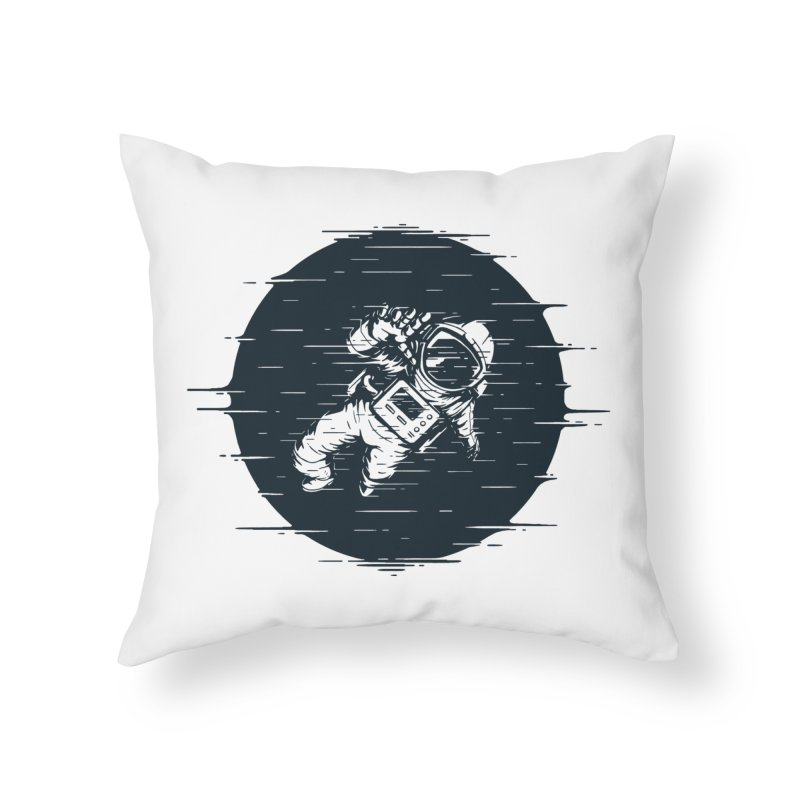 Glitch Space Home Throw Pillow by Steven Toang