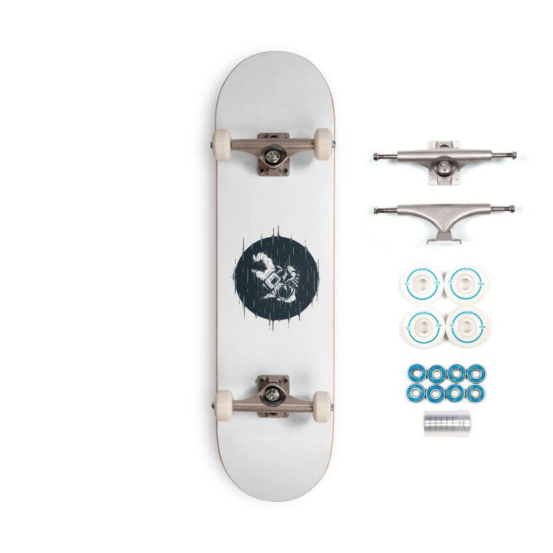 Glitch Space Accessories Skateboard by Steven Toang