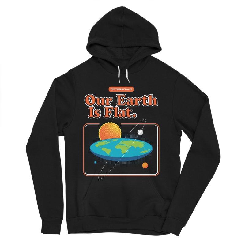 Our Earth is Flat Women's Sponge Fleece Pullover Hoody by Steven Toang