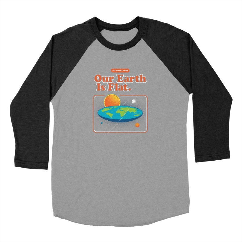 Our Earth is Flat Men's Longsleeve T-Shirt by Steven Toang