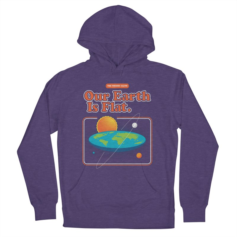 Our Earth is Flat Men's French Terry Pullover Hoody by Steven Toang