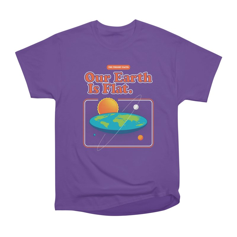Our Earth is Flat Women's Heavyweight Unisex T-Shirt by Steven Toang