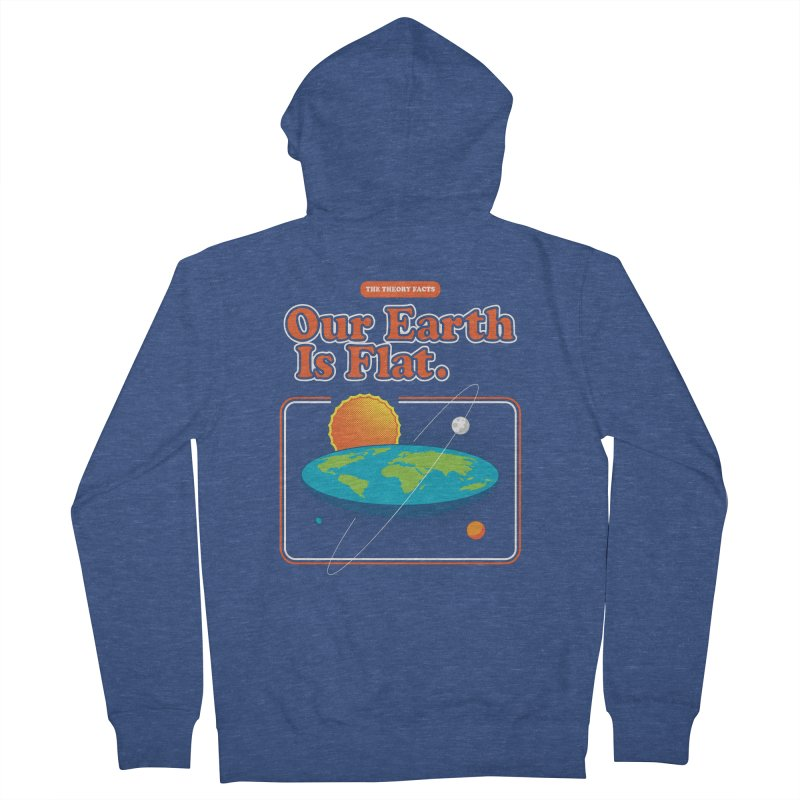 Our Earth is Flat Women's French Terry Zip-Up Hoody by Steven Toang