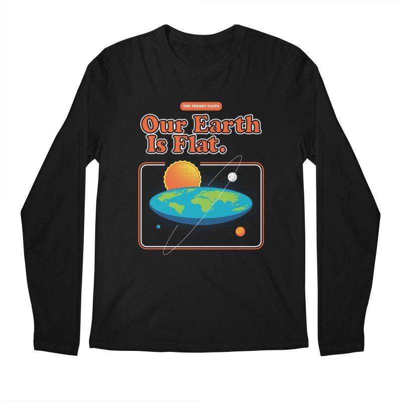 Our Earth is Flat Men's Regular Longsleeve T-Shirt by Steven Toang