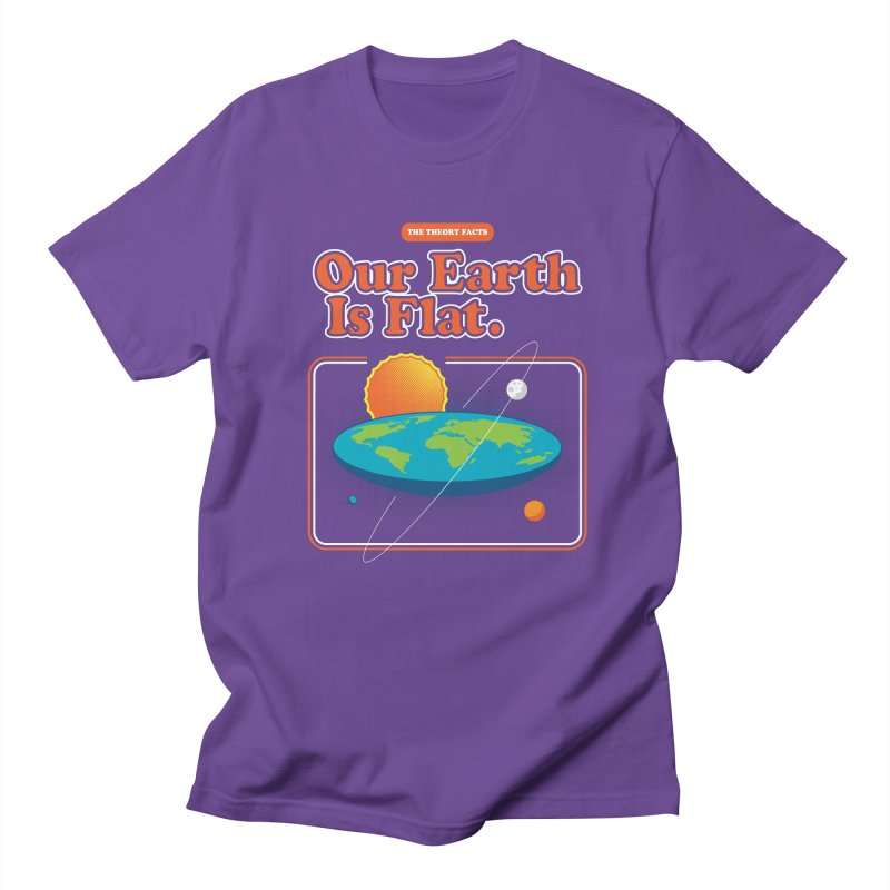 Our Earth is Flat Men's Regular T-Shirt by Steven Toang
