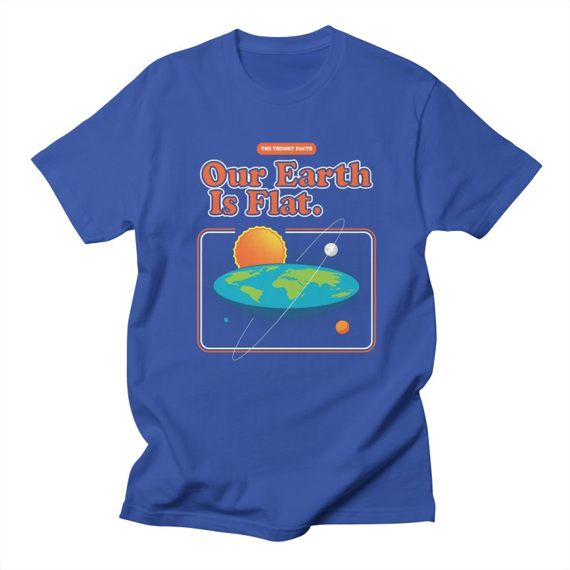 Our Earth is Flat Men's T-Shirt by Steven Toang