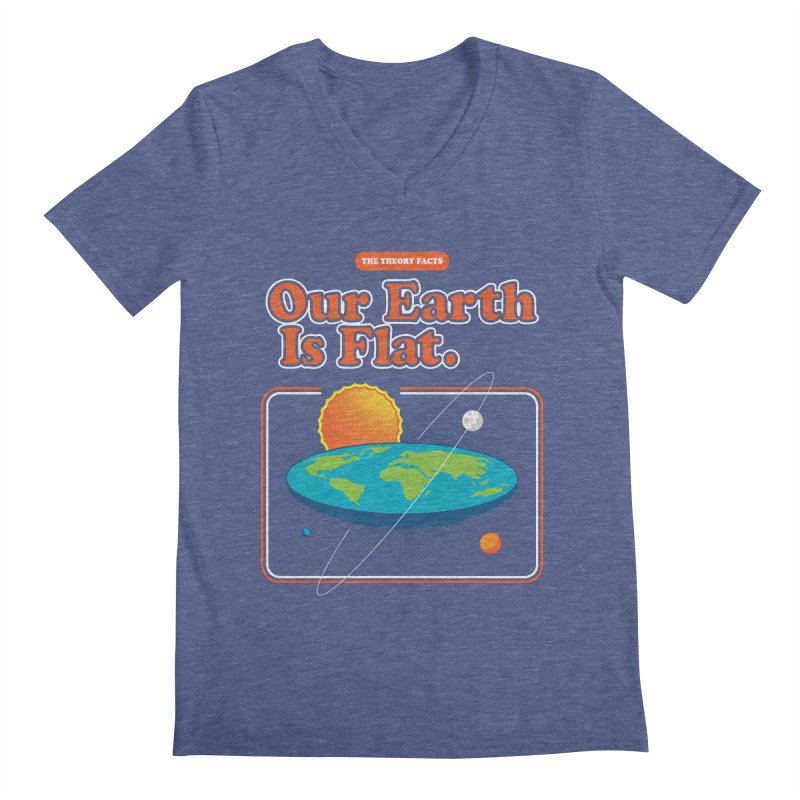 Our Earth is Flat Men's Regular V-Neck by Steven Toang