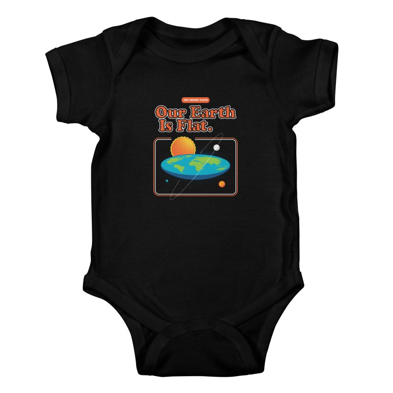Our Earth is Flat Kids Baby Bodysuit by Steven Toang