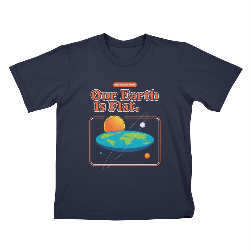 Our Earth is Flat Kids T-Shirt by Steven Toang