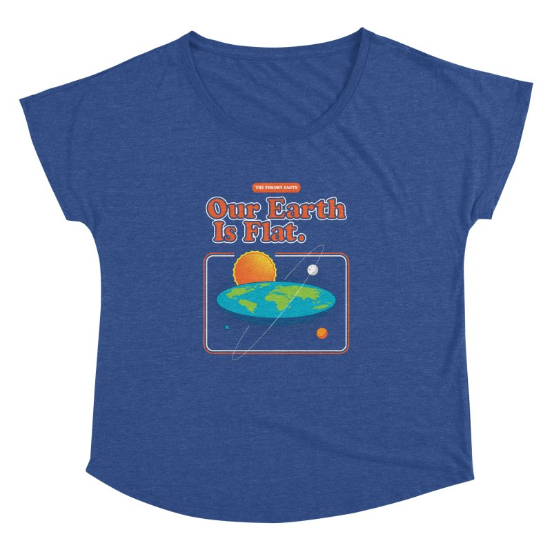 Our Earth is Flat Women's Scoop Neck by Steven Toang