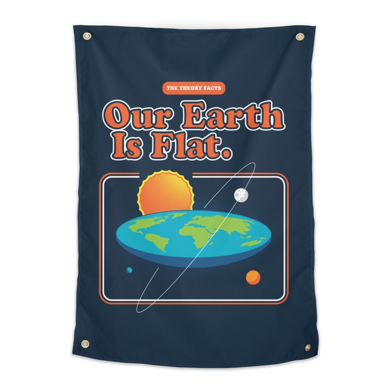 Our Earth is Flat Home Tapestry by Steven Toang