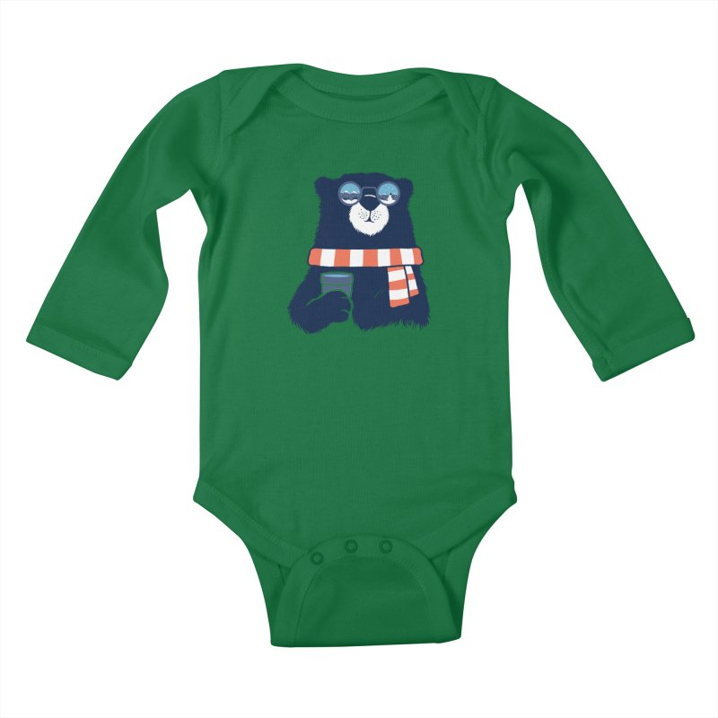Winter Break Kids Baby Longsleeve Bodysuit by Steven Toang