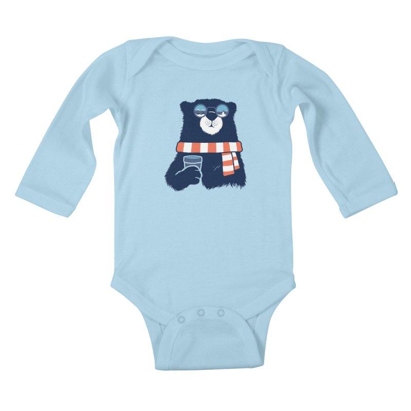 Winter Break Kids Baby Longsleeve Bodysuit by Steven Toang