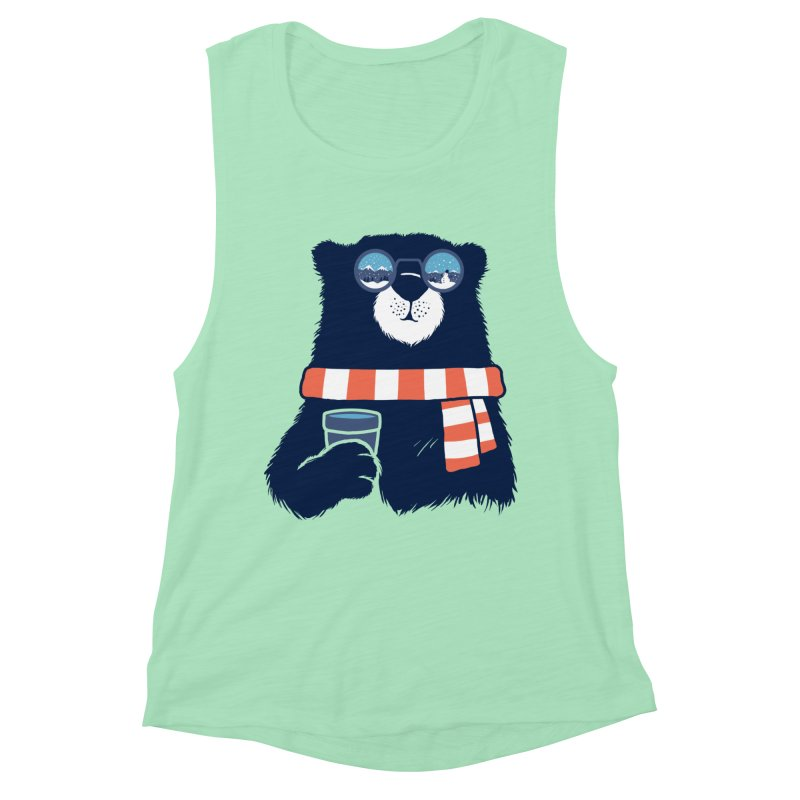Winter Break Women's Muscle Tank by Steven Toang