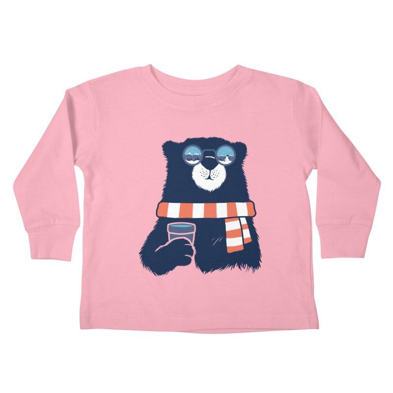 Winter Break Kids Toddler Longsleeve T-Shirt by Steven Toang