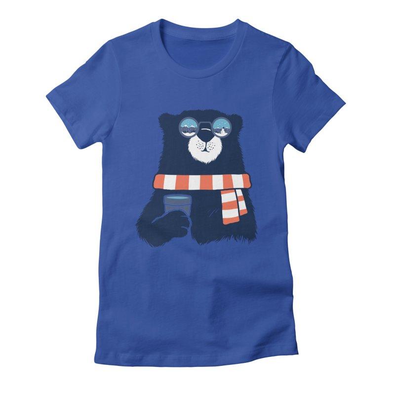 Winter Break Women's Fitted T-Shirt by Steven Toang