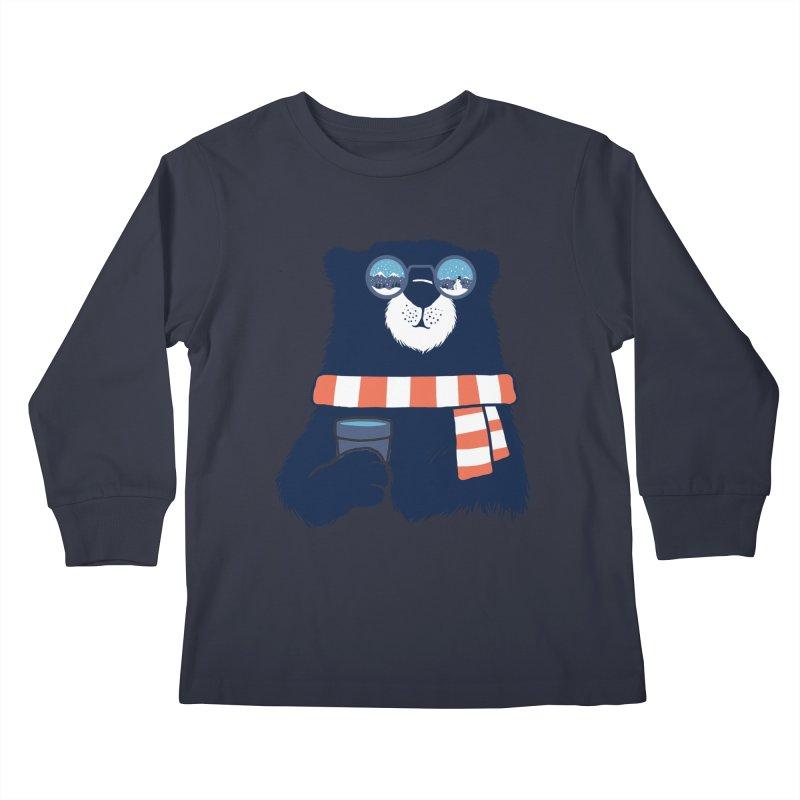 Winter Break Kids Longsleeve T-Shirt by Steven Toang