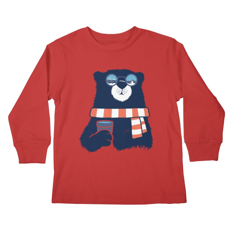 Winter Break Kids Longsleeve T-Shirt by Steven Toang