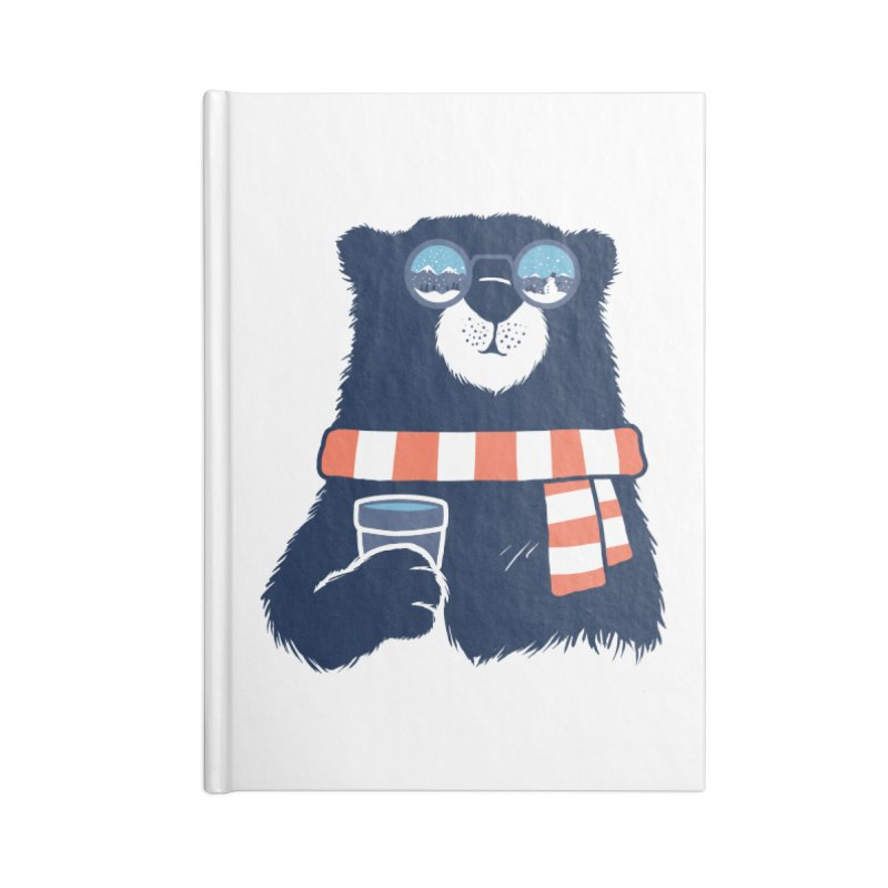 Winter Break Accessories Lined Journal Notebook by Steven Toang