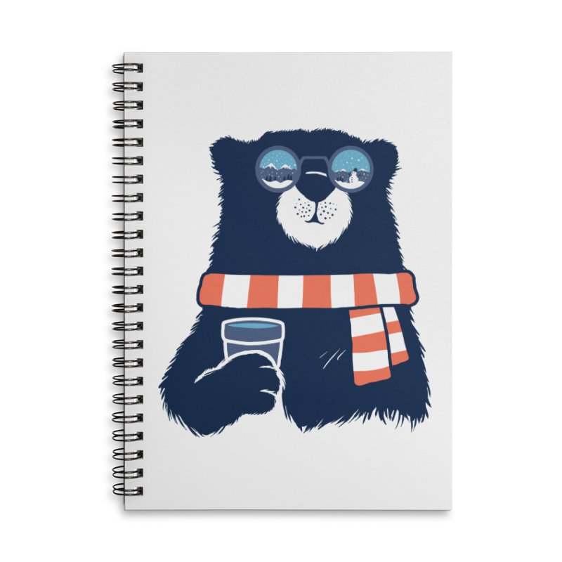 Winter Break Accessories Lined Spiral Notebook by Steven Toang