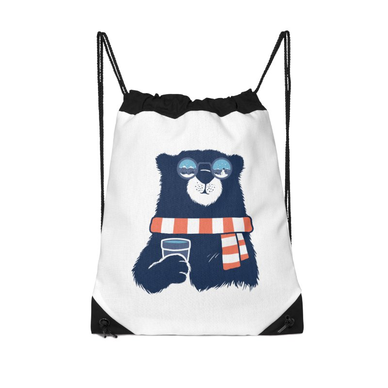 Winter Break Accessories Drawstring Bag Bag by Steven Toang