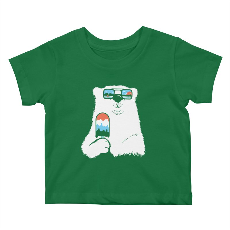 Summer Break Kids Baby T-Shirt by Steven Toang