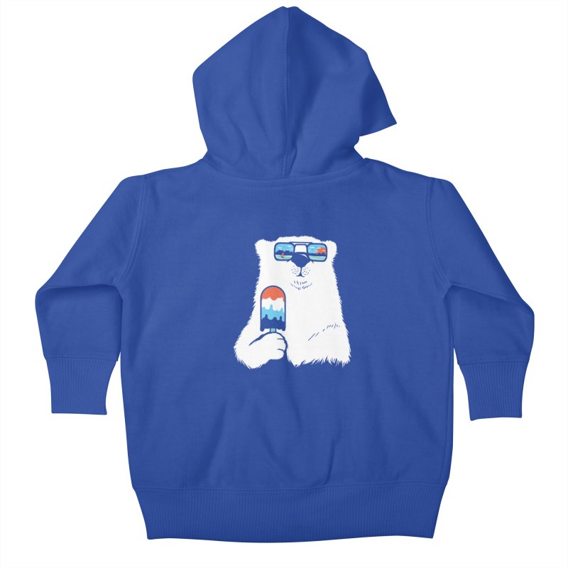 Summer Break Kids Baby Zip-Up Hoody by Steven Toang