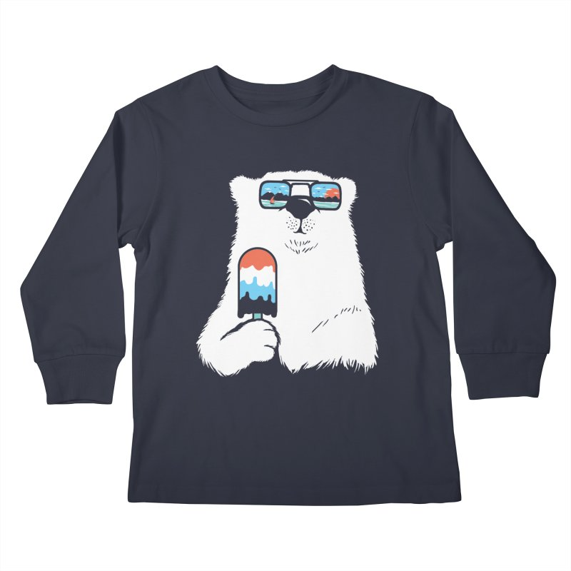 Summer Break Kids Longsleeve T-Shirt by Steven Toang