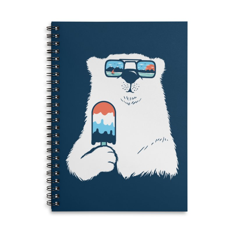 Summer Break Accessories Lined Spiral Notebook by Steven Toang