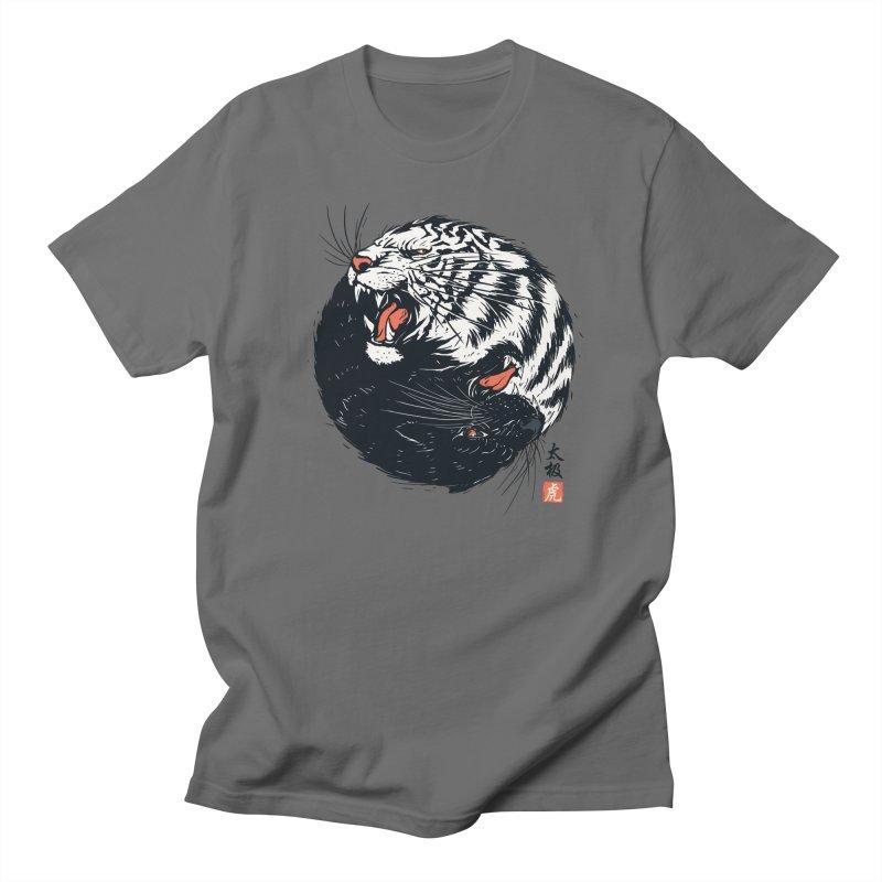Tachi Tiger Men's T-Shirt by Steven Toang