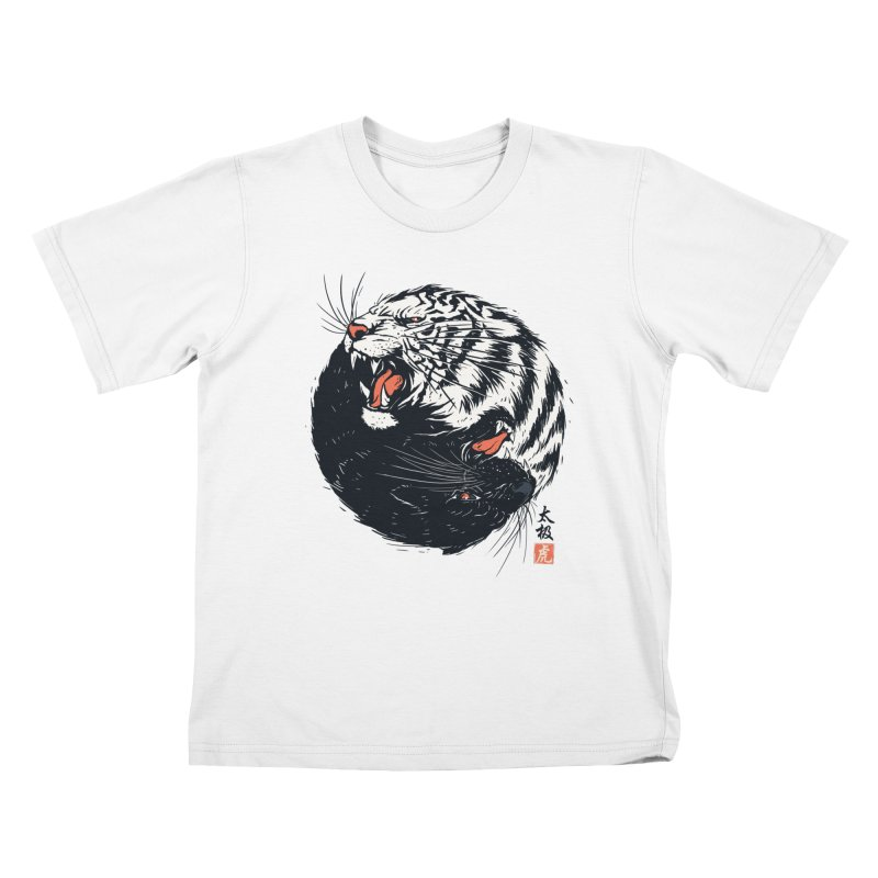 Tachi Tiger Kids T-Shirt by Steven Toang