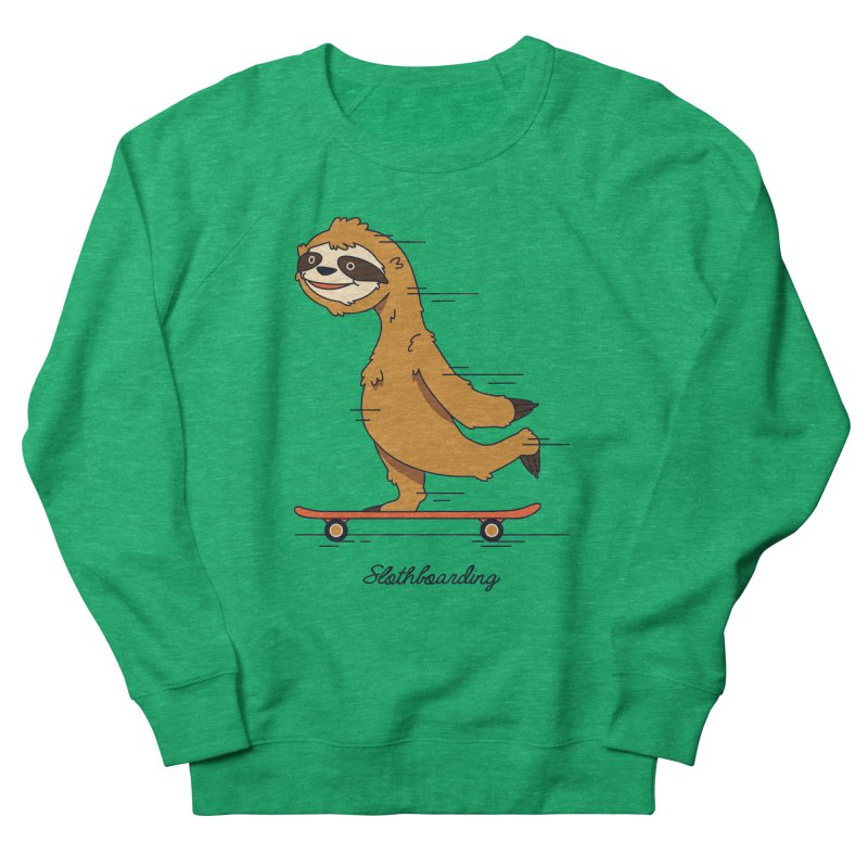 Slothboarding Women's Sweatshirt by Steven Toang