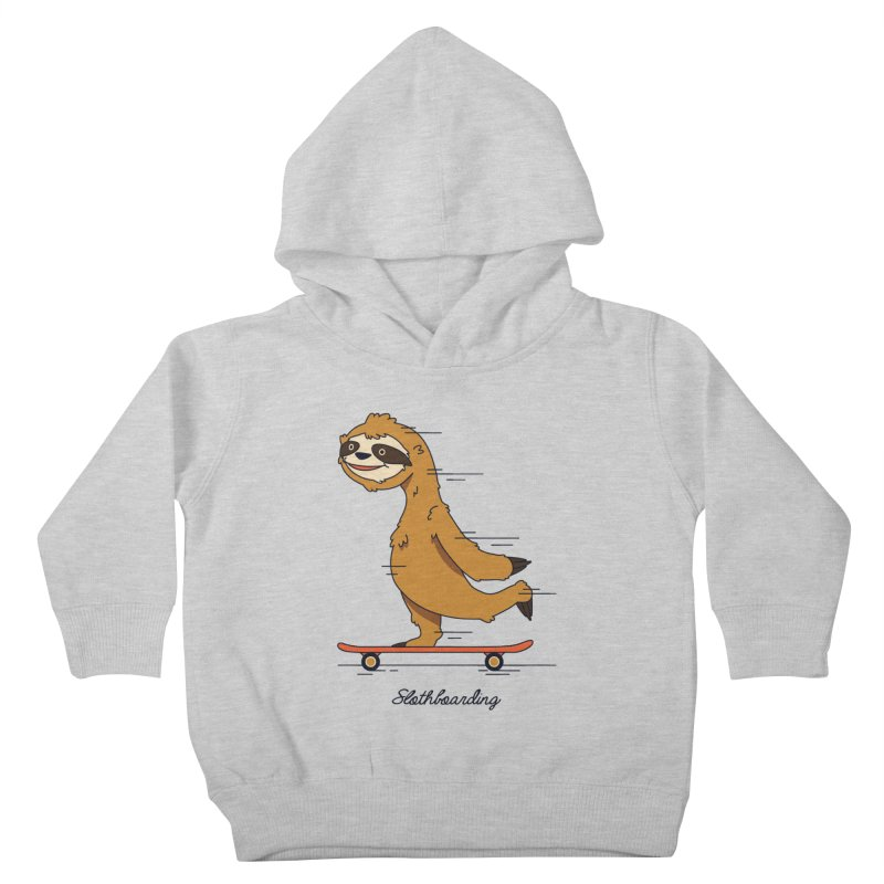 Slothboarding Kids Toddler Pullover Hoody by Steven Toang