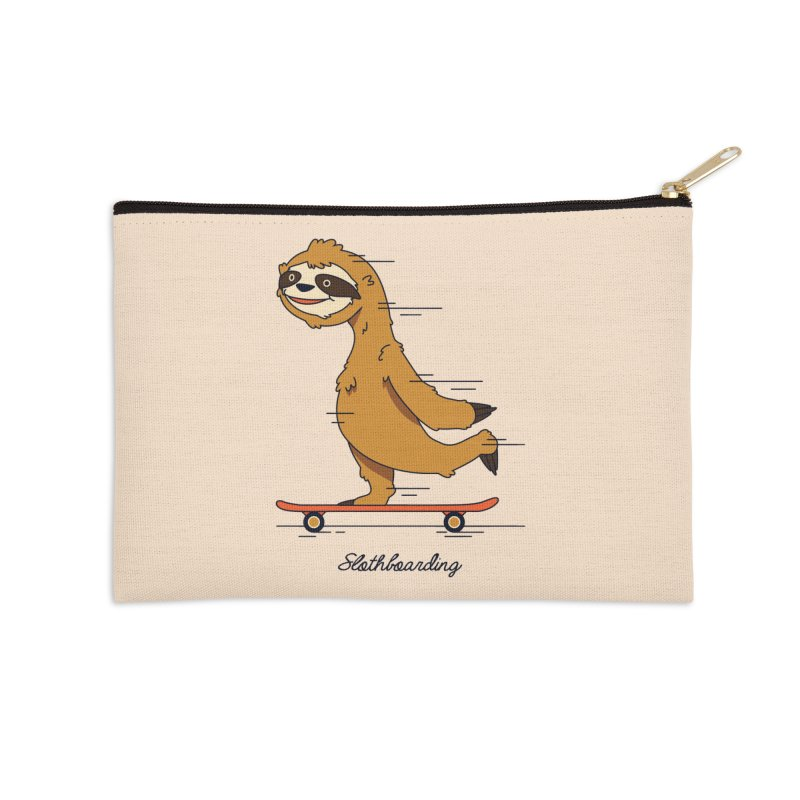 Slothboarding Accessories Zip Pouch by Steven Toang