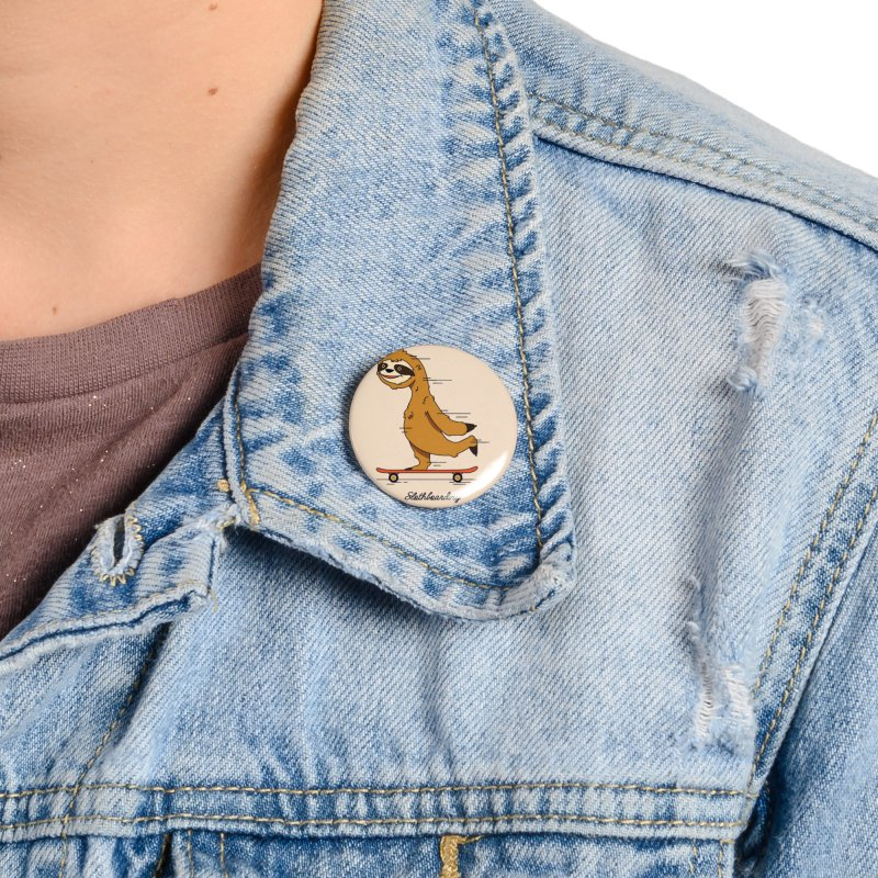 Slothboarding Accessories Button by Steven Toang