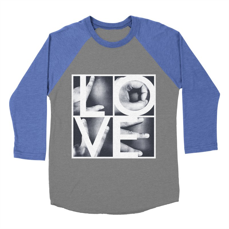 LOVE Women's Baseball Triblend T-Shirt by Steven Toang