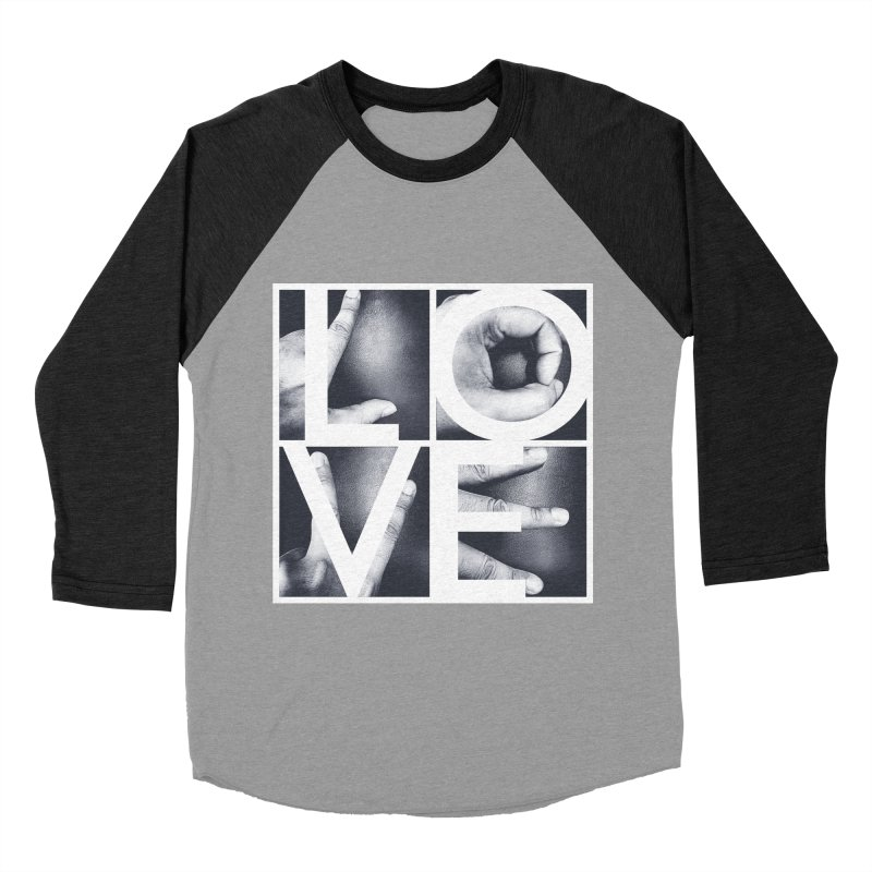LOVE Men's Baseball Triblend T-Shirt by Steven Toang