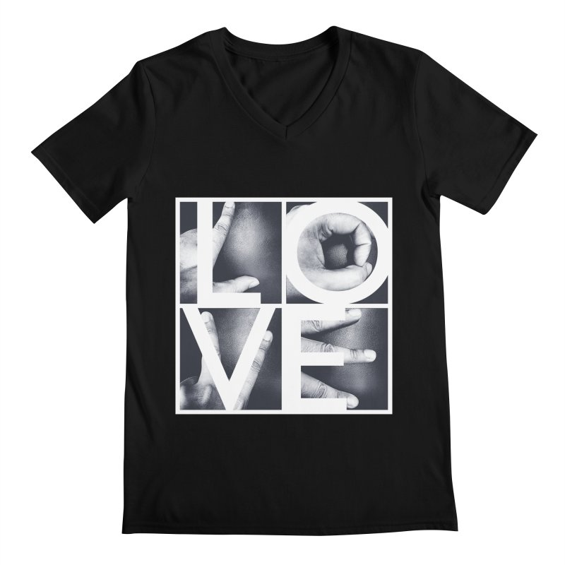 LOVE Men's V-Neck by Steven Toang