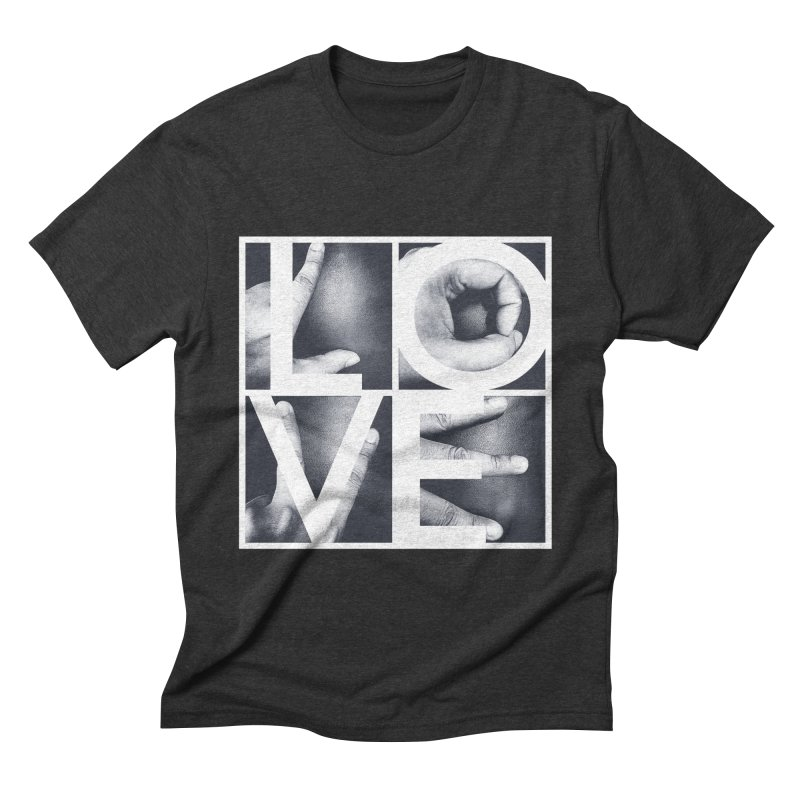 LOVE Men's Triblend T-shirt by Steven Toang