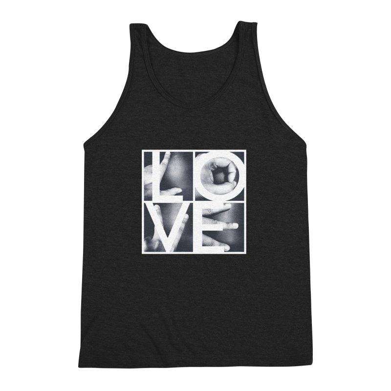 LOVE Men's Triblend Tank by Steven Toang