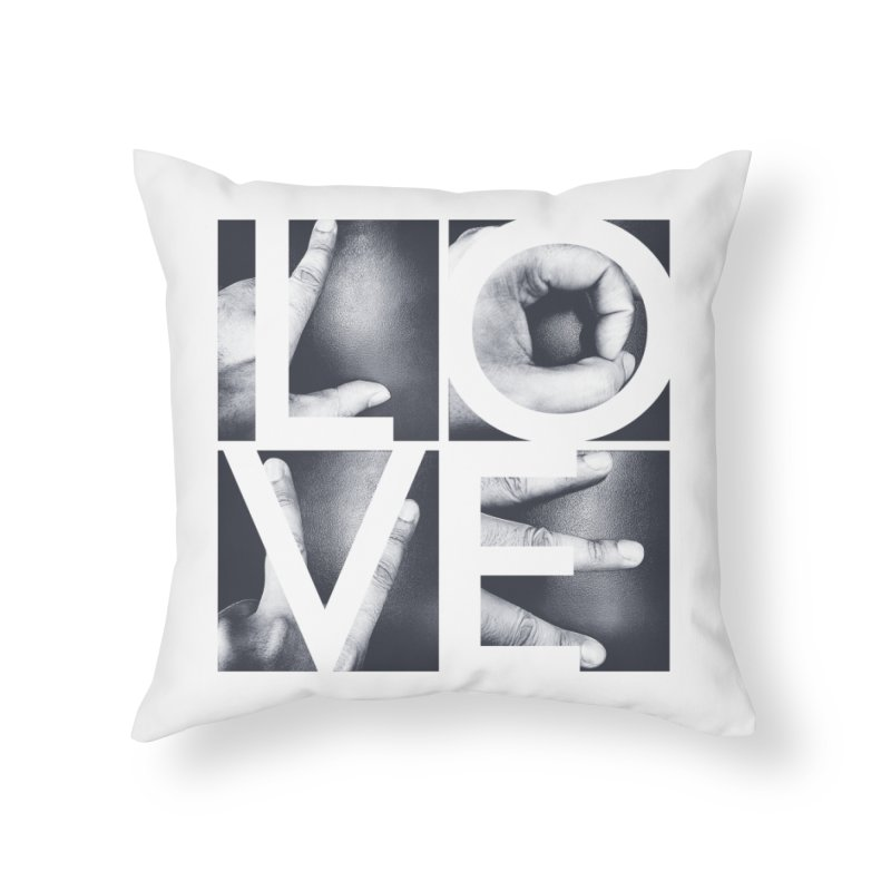 LOVE Home Throw Pillow by Steven Toang