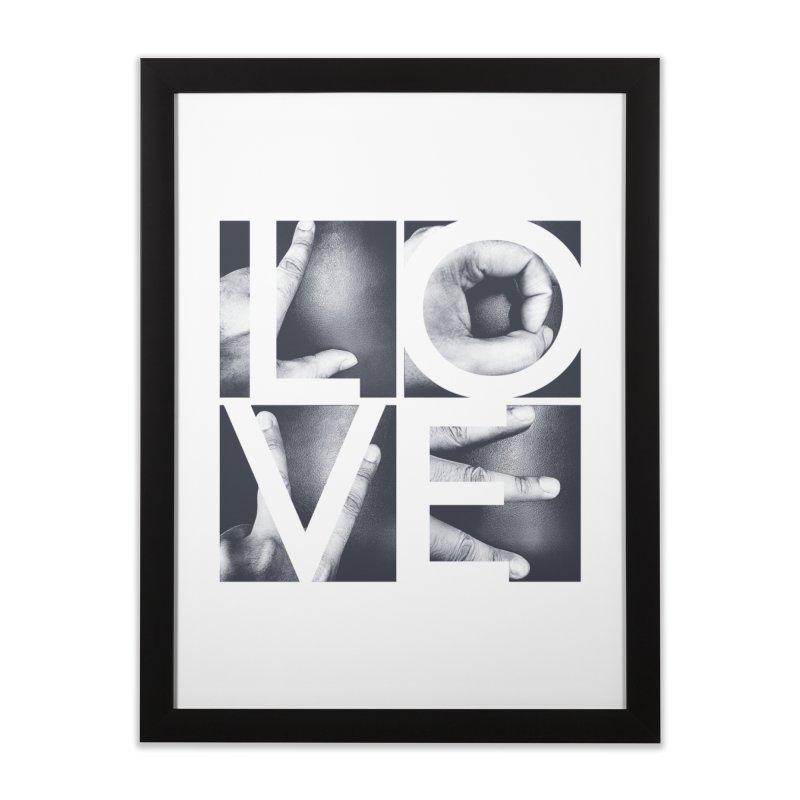 LOVE Home Framed Fine Art Print by Steven Toang