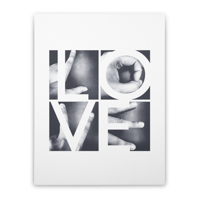 LOVE Home Stretched Canvas by Steven Toang