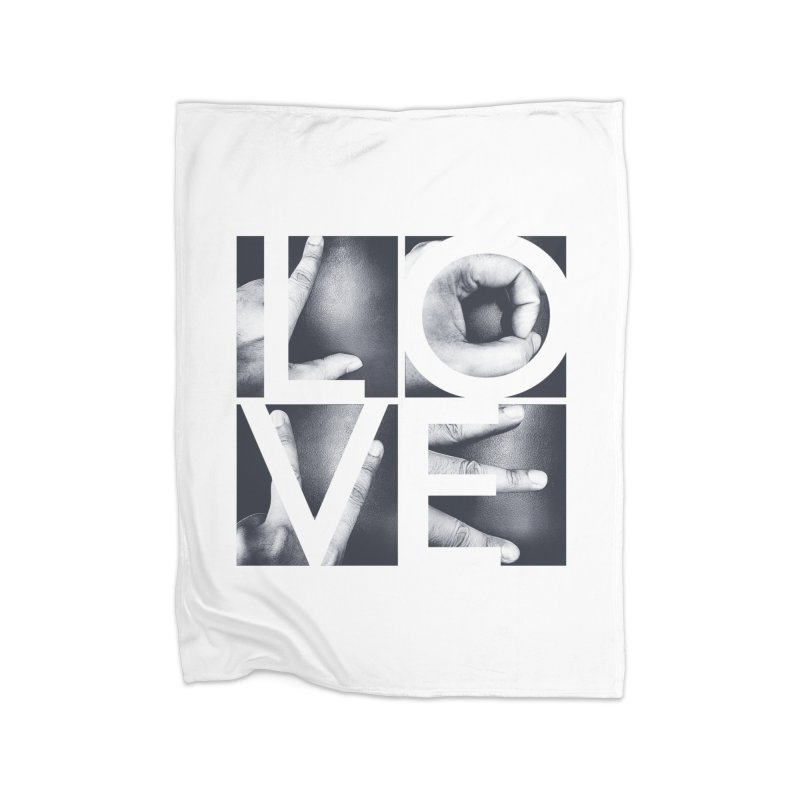 LOVE Home Fleece Blanket by Steven Toang