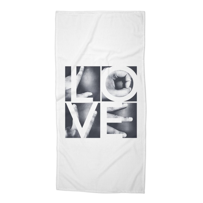 LOVE Accessories Beach Towel by Steven Toang