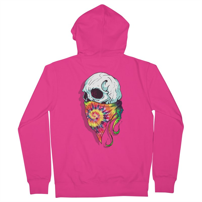 Skull Hipster Men's Zip-Up Hoody by Steven Toang