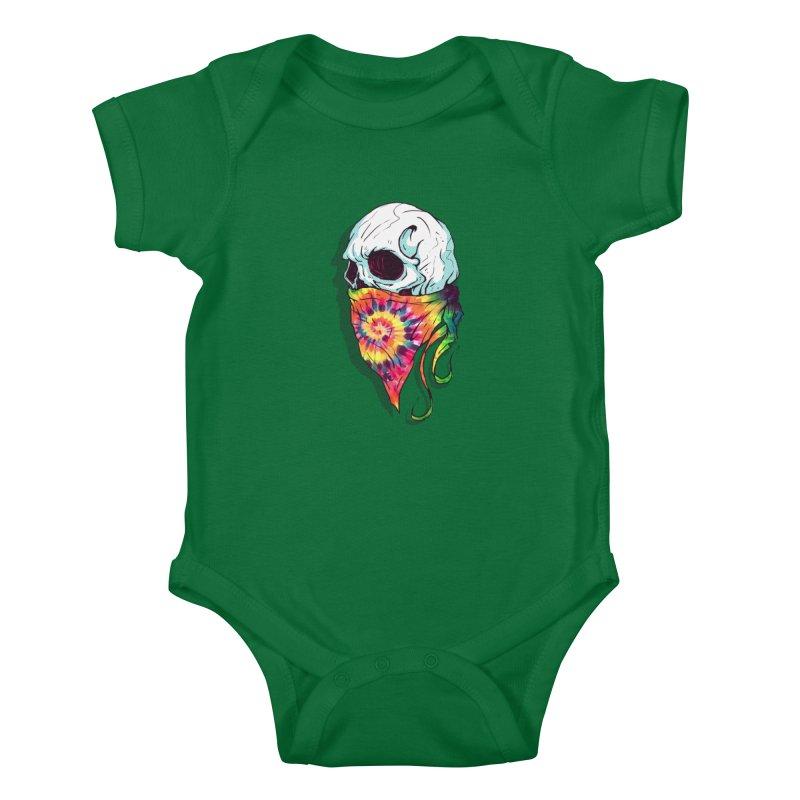 Skull Hipster Kids Baby Bodysuit by Steven Toang